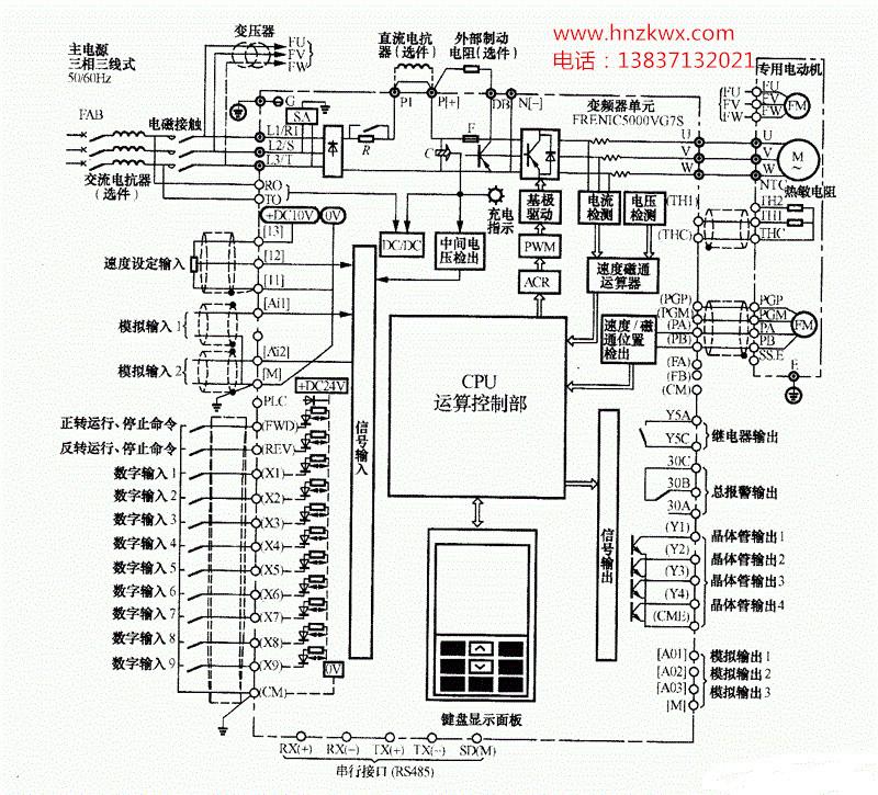 富士变频器接线图分析
